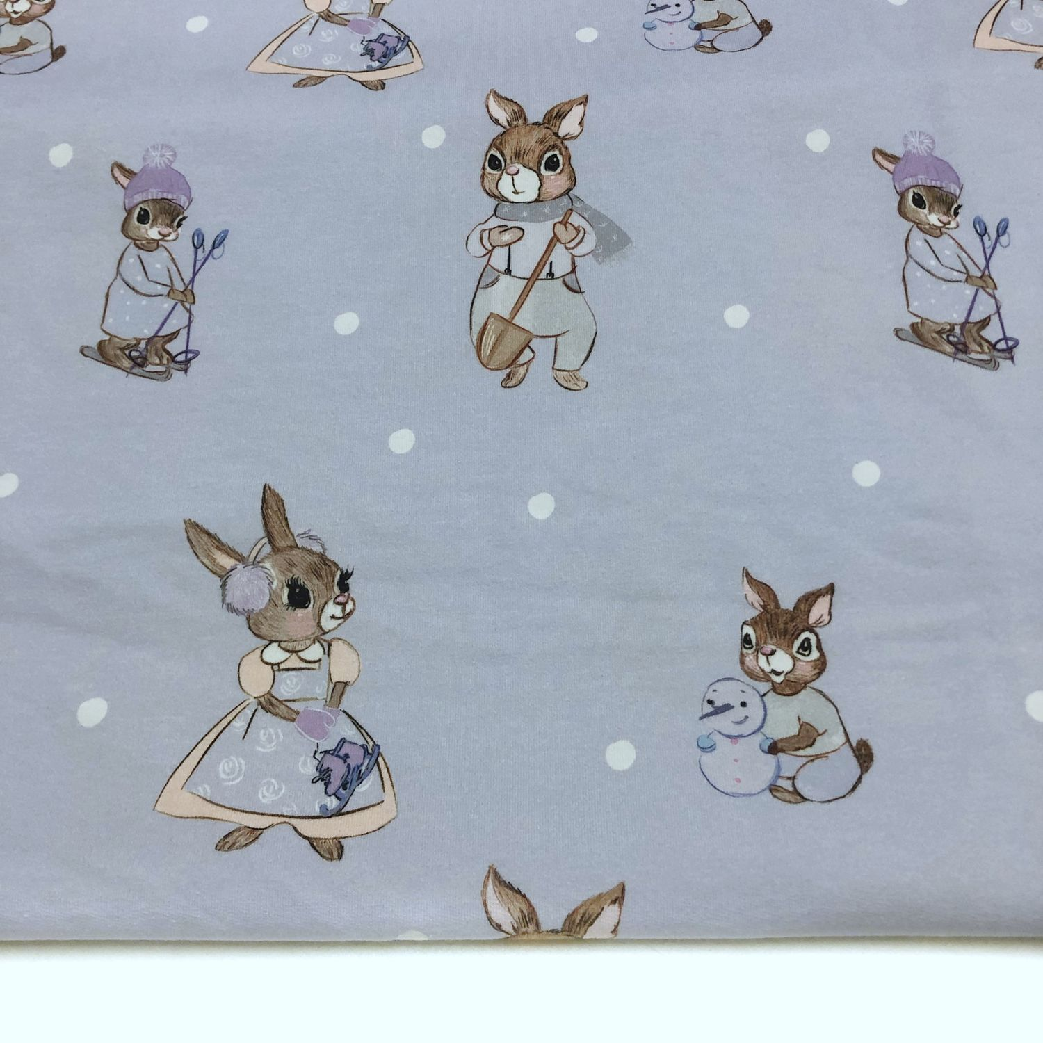 Footer Rabbits on lilac, Fabric, Moscow,  Фото №1