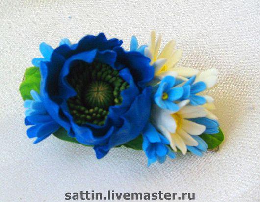 Диадемы, обручи ручной работы. Ярмарка Мастеров - ручная работа. Купить Заколка с полевыми цветами. Handmade. Полевые цветы