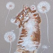 Картины и панно ручной работы. Ярмарка Мастеров - ручная работа Летающий Ми - картина пастелью. Handmade.