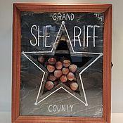 Подарочные боксы ручной работы. Ярмарка Мастеров - ручная работа Подарок мужчине SHERIFF. Handmade.