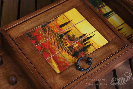 Прихожая ручной работы. Ярмарка Мастеров - ручная работа. Купить Ключница «Тоскана». Handmade. Ключница, вешалка для ключей, дерево