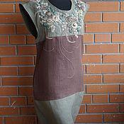 Одежда ручной работы. Ярмарка Мастеров - ручная работа Летнее платье туника Резеда. Handmade.