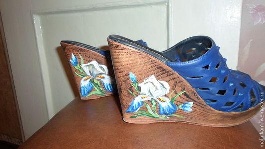Обувь ручной работы. Ярмарка Мастеров - ручная работа. Купить Роспись обуви. Handmade. Роспись обуви, ирисы