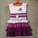 Одежда для девочек, ручной работы. Вязанное платье для девочки. BARIBINA. Ярмарка Мастеров. Вязанное платье