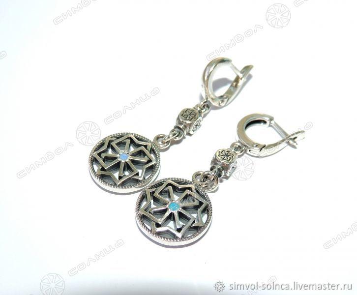 Earrings Solvency (pendant), Folk decorations, Sochi,  Фото №1