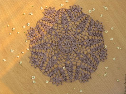 Текстиль, ковры ручной работы. Ярмарка Мастеров - ручная работа. Купить Салфетка крючком. Handmade. Коричневый, шоколадный, салфетка крючком