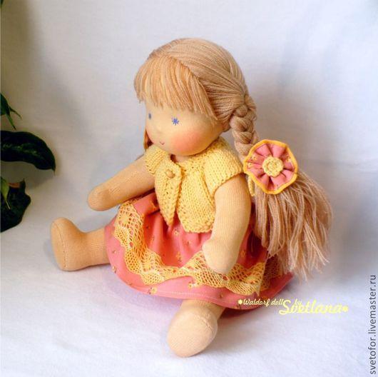 Вальдорфская игрушка ручной работы. Ярмарка Мастеров - ручная работа. Купить Булочка, шарнирная, 32 см. Handmade. Вальдорфская кукла
