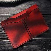 Сумки и аксессуары handmade. Livemaster - original item Leather cover for avtodokumentov. Passport and document cover. Handmade.