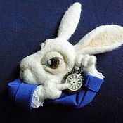 """Украшения handmade. Livemaster - original item Brooch """"White Rabbit"""". Handmade."""