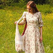 Русский стиль ручной работы. Ярмарка Мастеров - ручная работа Льняная лоскутная сумка-торба. Handmade.