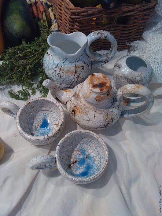 """Сервизы, чайные пары ручной работы. Ярмарка Мастеров - ручная работа. Купить Набор  посуды из серии """"Карта пустыни"""". Handmade."""