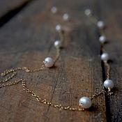 Украшения handmade. Livemaster - original item Chain with pearls