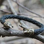 Украшения handmade. Livemaster - original item Leather men`s bracelet. Handmade.