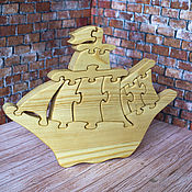 """Мягкие игрушки ручной работы. Ярмарка Мастеров - ручная работа Пазл """"Кораблик"""". Handmade."""