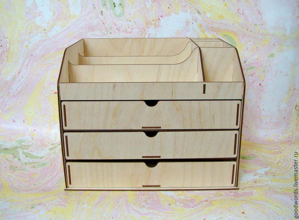 Деревянный органайзер для косметики своими руками