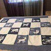 Сувениры и подарки handmade. Livemaster - original item Personalized Souvenirs: Knitted blanket-blanket