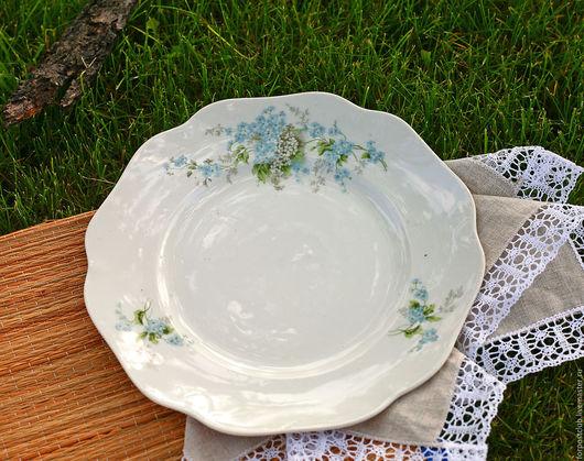 Винтажная посуда. Ярмарка Мастеров - ручная работа. Купить Тарелка большая 20-е годы. Handmade. Комбинированный, купить, продаю