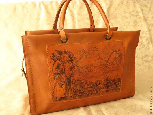 Женские сумки ручной работы. Ярмарка Мастеров - ручная работа. Купить Кожаный саквояж от Vad Us. Handmade.