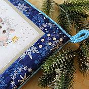 Картины и панно handmade. Livemaster - original item Christmas textile panels embroidered Light. Handmade.