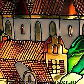 Для дома и интерьера ручной работы. Ярмарка Мастеров - ручная работа Витражная роспись на заказ. Handmade.