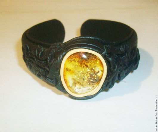 Браслеты ручной работы. Ярмарка Мастеров - ручная работа. Купить Браслет  Янтарь натуральный камень янтарь,кожаный браслет. Handmade.