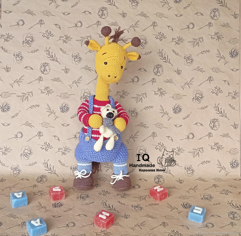 Вязаная игрушка Жираф, Амигуруми куклы и игрушки, Новосибирск,  Фото №1