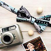 Аксессуары ручной работы. Ярмарка Мастеров - ручная работа Галстук- бабочка бирюзовая Фотокамера. Handmade.