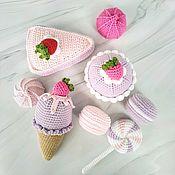 Кукольная еда ручной работы. Ярмарка Мастеров - ручная работа Вязаные сладости, вязаная еда, еда куклам. Handmade.