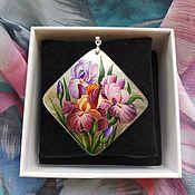 Pendants handmade. Livemaster - original item Bouquet of irises. Handmade.