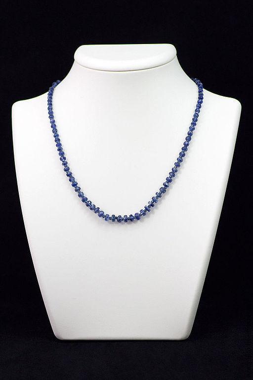 Ожерелье из Кианита натурального №1350.