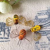 Декор для флористики ручной работы. Ярмарка Мастеров - ручная работа Пчелки декоративные(желтые). Handmade.
