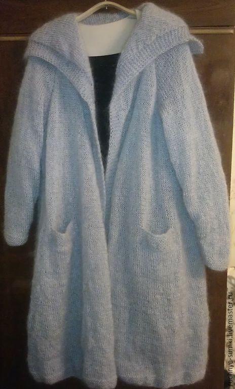 Верхняя одежда ручной работы. Ярмарка Мастеров - ручная работа. Купить Серое мохеровое пальто. Handmade. Серый, вязание на заказ