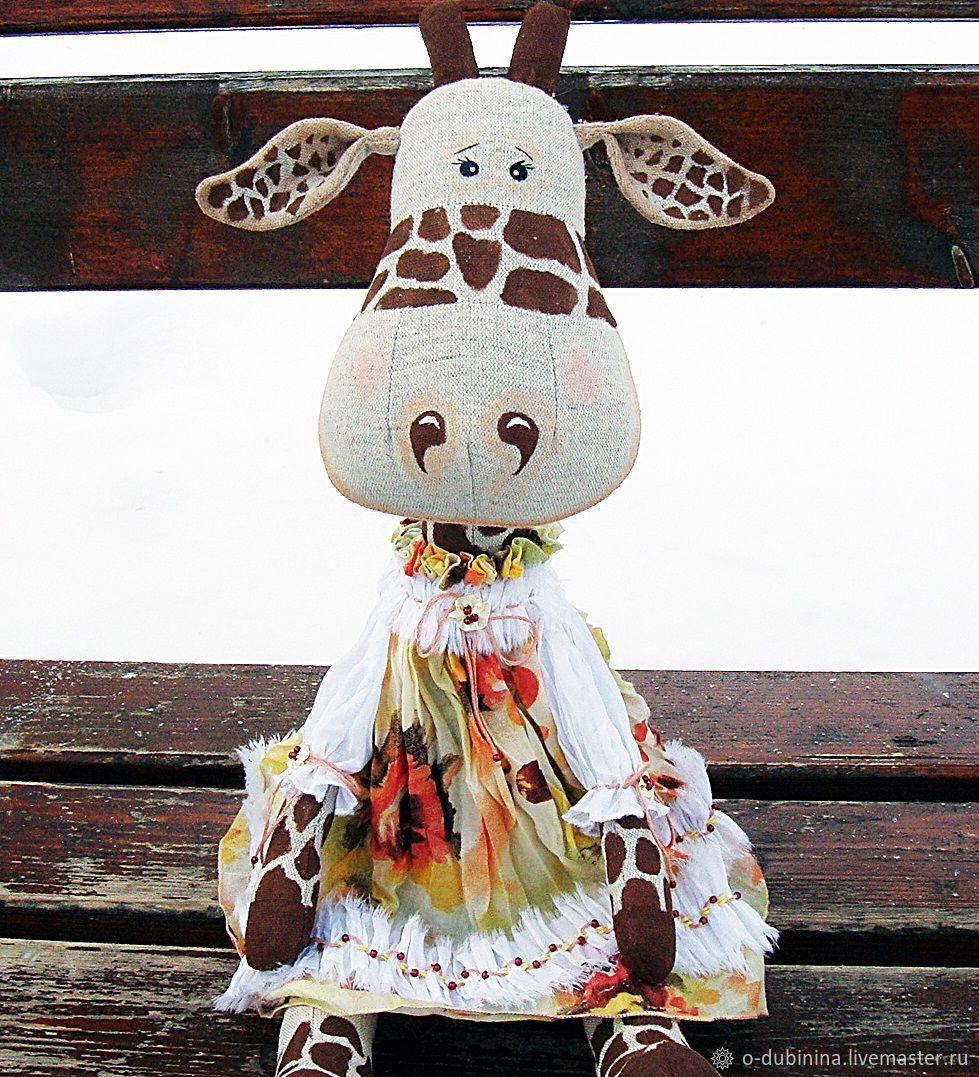 Жираф ручной работы. Авторская игрушка жираф. Коллекционная игрушка жираф. Игрушка интерьерная жираф.