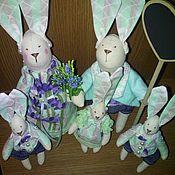 Куклы и игрушки ручной работы. Ярмарка Мастеров - ручная работа Автопортретная семья зайчиков. Handmade.