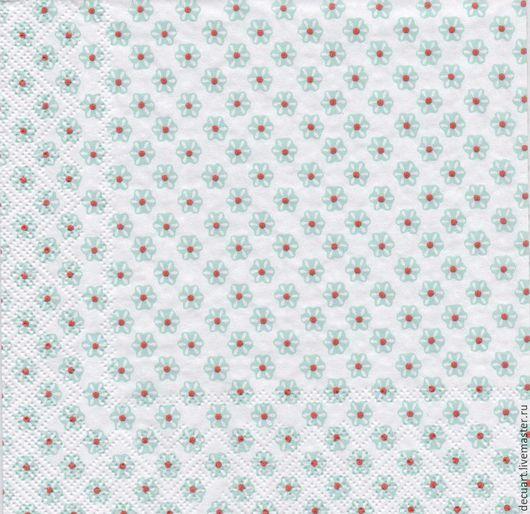 """Декупаж и роспись ручной работы. Ярмарка Мастеров - ручная работа. Купить Салфетка  """"Цветочки на белом фоне"""". Handmade. Разноцветный"""
