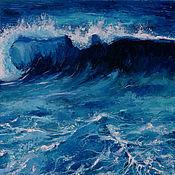 Картины и панно handmade. Livemaster - original item Painting sea foam, oil, hardboard 35h50. Handmade.