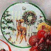 """Подарки к праздникам ручной работы. Ярмарка Мастеров - ручная работа Зеркальце карманное """"Бемби"""". Handmade."""