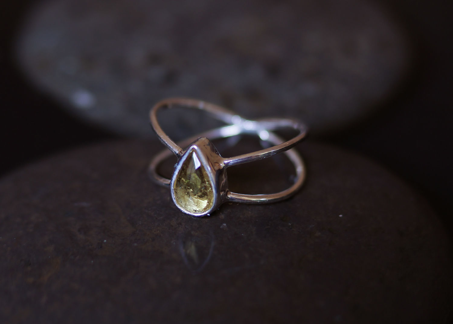 Ring Infinity with Sunny yellow tourmaline size 17, Rings, Moscow,  Фото №1