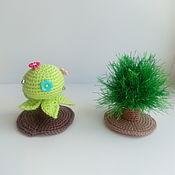 Куклы и игрушки handmade. Livemaster - original item Magic bushes. Knitted decorations for puppet theatre. Handmade.