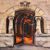 Картины и панно ручной работы. Ярмарка Мастеров - ручная работа Акварель Ворота модерн. Handmade.