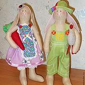 """Куклы и игрушки ручной работы. Ярмарка Мастеров - ручная работа """"Сладкая парочка"""" для Елены. Кролики Тильды. Handmade."""