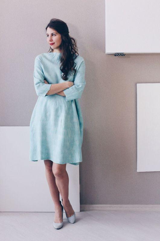 """Платья ручной работы. Ярмарка Мастеров - ручная работа. Купить Валяное платье """"Минималистично мятное"""". Handmade. Мятный, войлочное платье"""