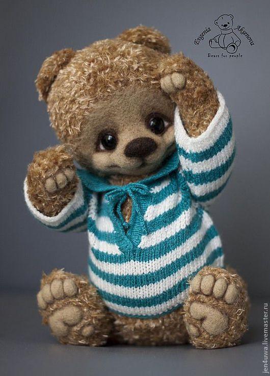 Мишки Тедди ручной работы. Ярмарка Мастеров - ручная работа. Купить Мэнни. Handmade. Бирюзовый, вискоза, глаза стеклянные