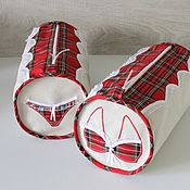 Подарки к праздникам handmade. Livemaster - original item Organizers for linen storage. Plaid cage.. Handmade.