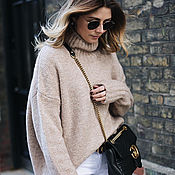 Одежда handmade. Livemaster - original item Noble beige sweater in a boxy cut. Handmade.