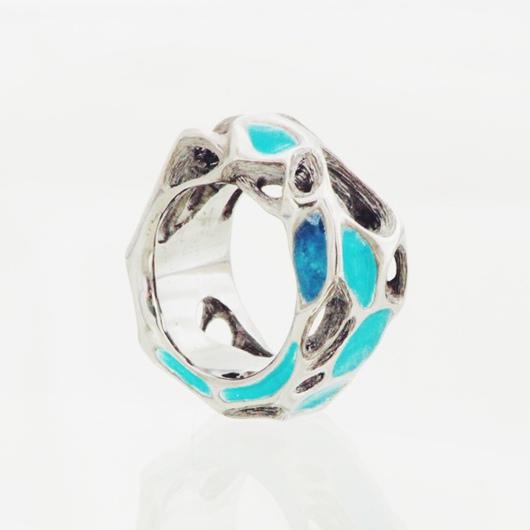 Кольца ручной работы. Ярмарка Мастеров - ручная работа. Купить кольцо серебряное горячая эмаль. Handmade. Серебряный, Горячая эмаль