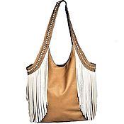 Сумки и аксессуары handmade. Livemaster - original item Bag with fringe W0090. Leather. Handmade. Handmade.