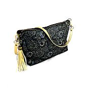 Сумки и аксессуары handmade. Livemaster - original item Bag ladies black suede