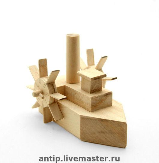 """""""Пароход"""" - деревянняя игрушка"""