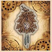 Для дома и интерьера handmade. Livemaster - original item Cross stitch Wall Clock with cuckoo. Handmade.